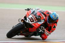 Melandri beats Rea for Aragon pole, Davies falls