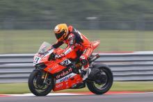 Rinaldi tops drying FP1 as World Superbikes return to Brno