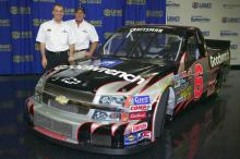 NASCAR champs hit track for Goodyear test.