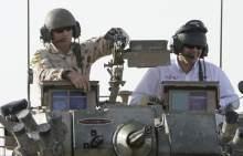 Awestruck Bright revs up Aussie troops in Iraq.