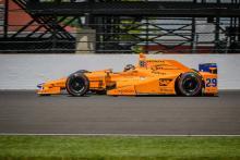 Fernando Alonso Indy 500 qualifying