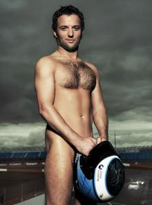 Turner swaps race suit for birthday suit for charity