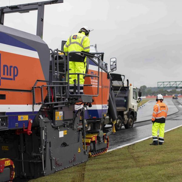 Silverstone, resurfacing work,