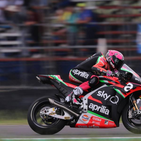 Aprilia swingarm device set for Jerez debut?