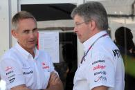 09.06.2012- Martin Whitmarsh (GBR), Chief Executive Officer Mclaren and Ross Brawn (GBR), Team Princ