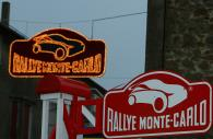 Scene, Rallye Monte Carlo sign. Rallye Automobile Monte-Carlo, 18-20 January 2007
