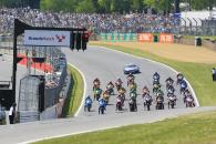 Race one starting grid, lights out