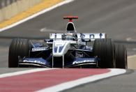 Juan Pablo Montoya during practice for his final race with the Williams team in Brazil