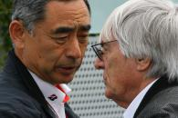 Friday Practice 2, Bernie Ecclestone (GBR), President and CEO of Formula One Management and Hiroshi