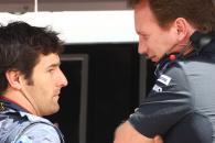 Saturday Practice, Mark Webber (AUS), Red Bull Racing, RB6 and Christian Horner (GBR), Red Bull Raci