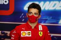 Charles Leclerc (MON) Ferrari in the FIA Press Conference.
