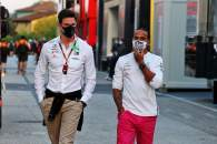(L to R): Toto Wolff (GER) Mercedes AMG F1 Shareholder and Executive Director with Lewis Hamilton (GBR) Mercedes AMG F1.