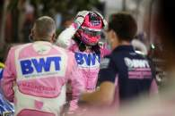 Race winner Sergio Perez (MEX) Racing Point F1 Team celebrates with the team in parc ferme.