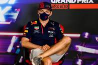 Max Verstappen (NLD) Red Bull Racing in the FIA Press Conference.