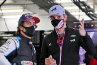 (L to R): Fernando Alonso (ESP) Alpine F1 Team and Esteban Ocon (FRA) Alpine F1 Team.