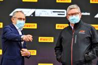 (L to R): Stefano Domenicali (ITA) Formula One President and CEO with Ross Brawn (GBR) Managing Director, Motor Sports.