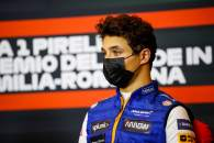 Lando Norris (GBR) McLaren in the post race FIA Press Conference.