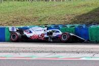 Mick Schumacher (GER) Haas VF-21 crashed in the second practice session.