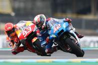 Alex Rins Marc Marquez , French MotoGP. 14 May 2021
