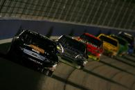 Matt Kenseth leads the field en route to victory