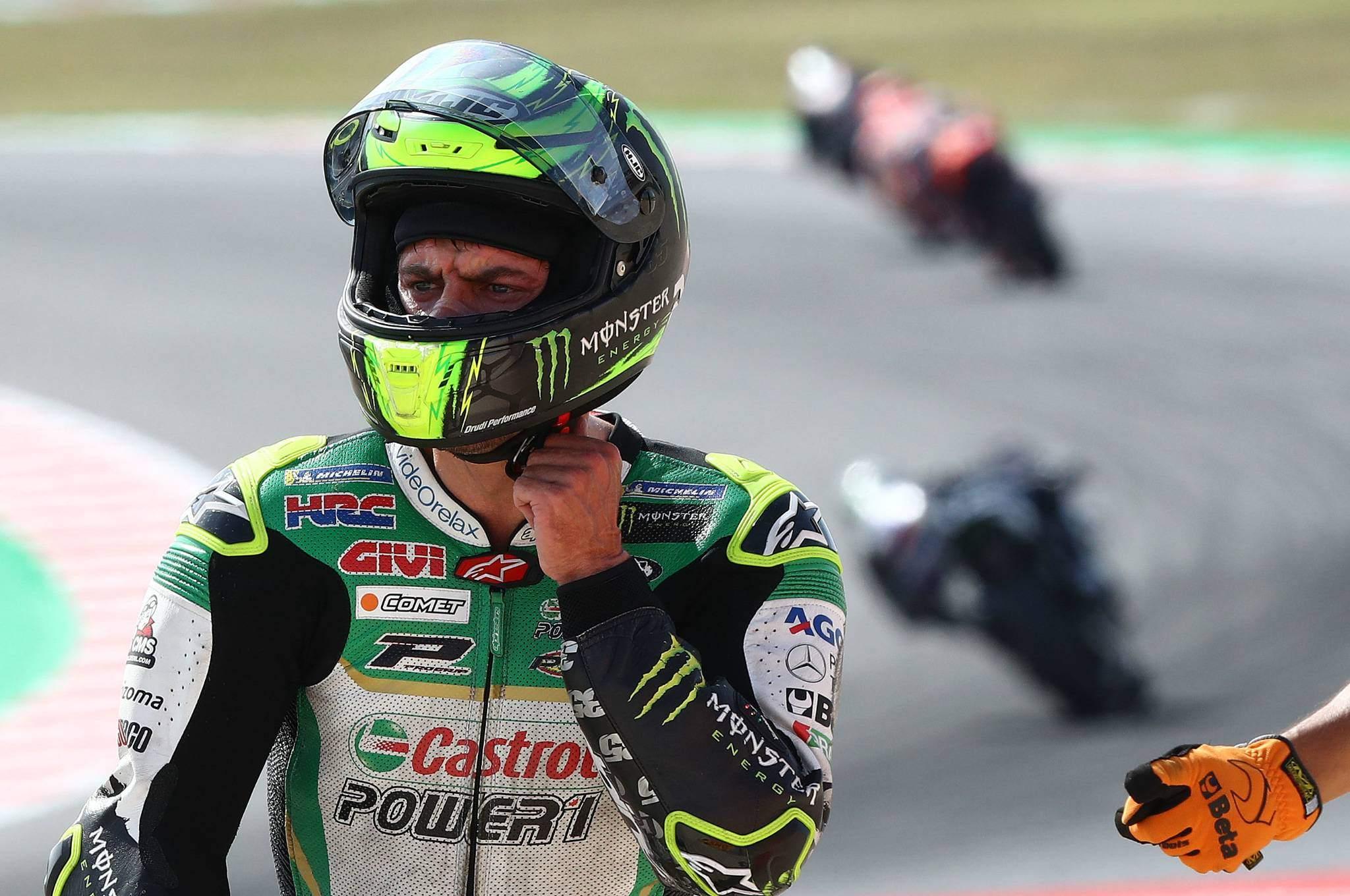 Crutchlow after crash,, Quartararo, Marquez, Vinales behind ...
